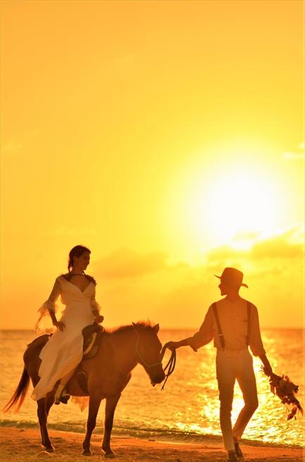 石垣島 沖縄 サンセット・フォト・ウェディング 結婚写真