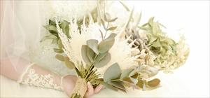 プリザーブドフラワー・ブーケ&ブートニア・オーダーメイド<br><br>プリザーブド&アンティク・フラワーを使用したブーケ<br>デザイン・大きさ・花材をご指定ください<br>¥30,000~