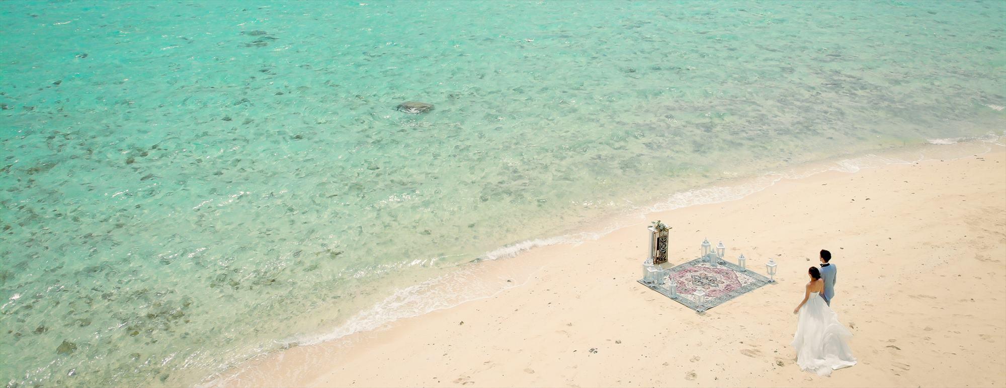沖縄小浜島近海ビーチ・ウェディング Kohama Phantom Island Okinawa Beach Wedding 幻の島挙式