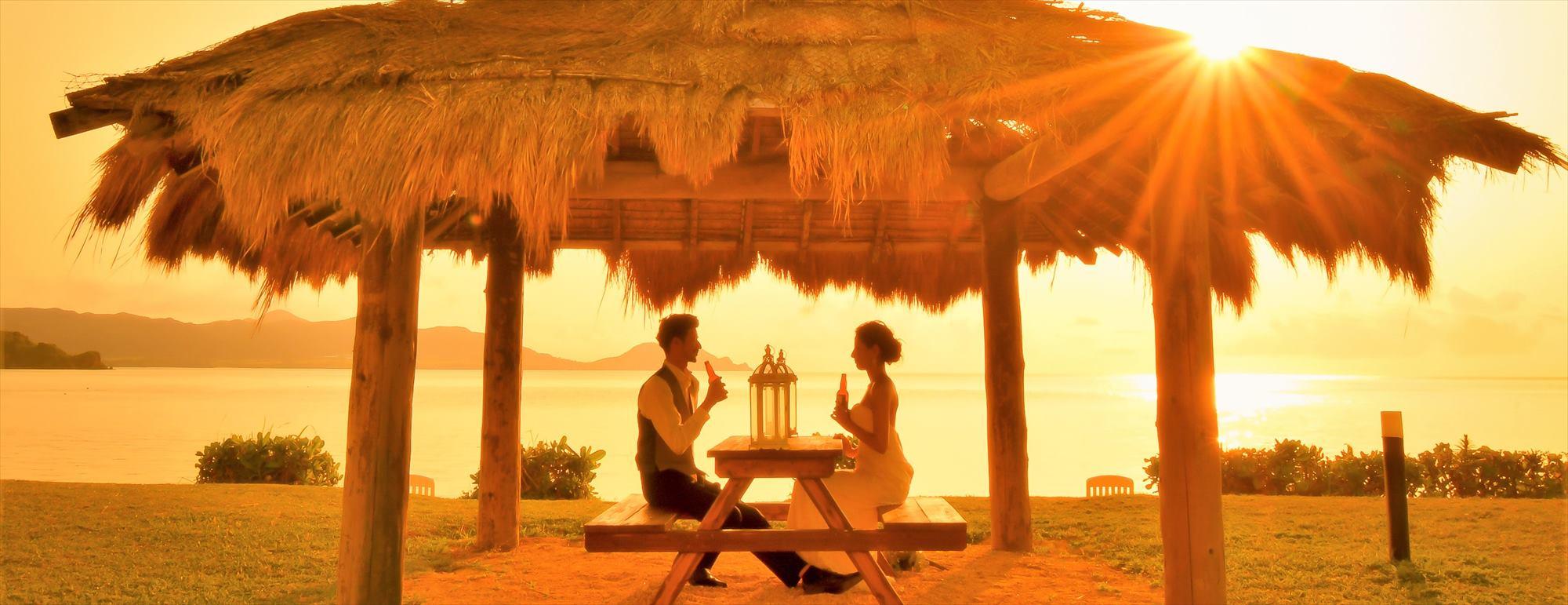 沖縄石垣島 サンセットディナー Ishigaki Island Okinawa Ishigaki Seaside Hotel Dinner 石垣リゾートホテル挙式後撮影