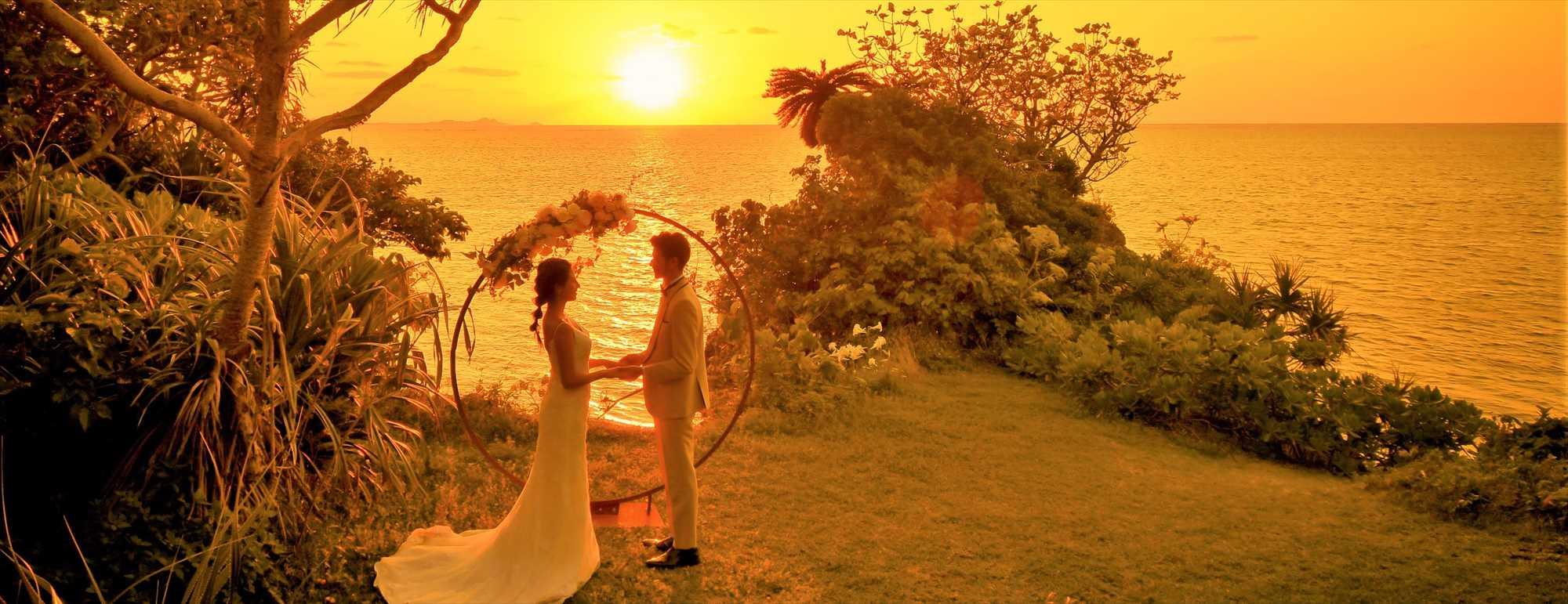 沖縄石垣島サンセット・ウェディング Ishigaki Island Okinawa Sunset Cove Wedding サンセット・コーブ挙式