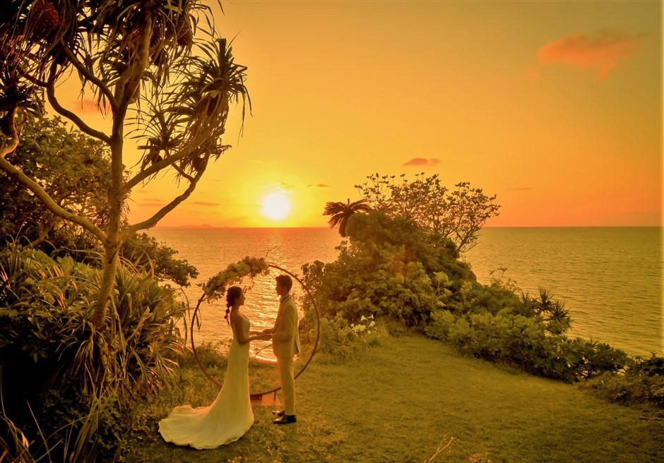 沖縄石垣島サンセット・ウェディング/ Ishigaki Island Okinawa Sunset Cove Wedding/ サンセット・コーブ挙式
