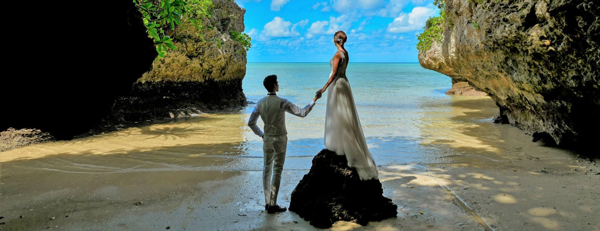 沖縄石垣島フォト・ウェディング Ishigaki Island Okinawa Sabishi Cave Photo Wedding サビチ鍾乳洞 挙式前撮影