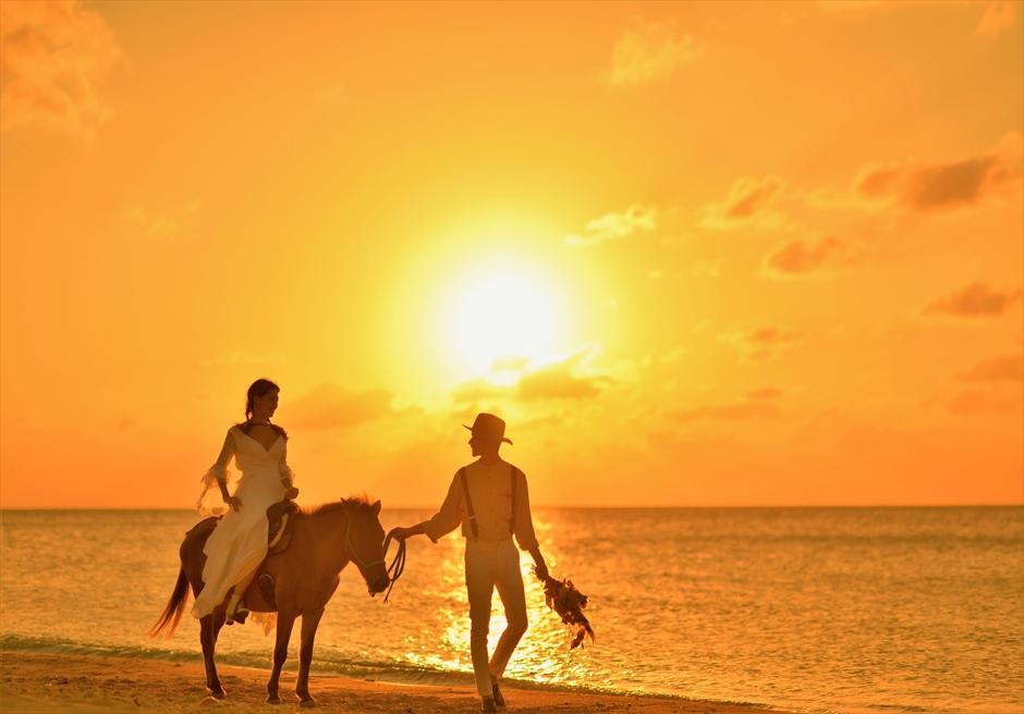 沖縄石垣島フォト・ウェディング/ Ishigaki Island Okinawa Sunset Beach Photo Wedding/ サンセット・ビーチ/挙式後撮影