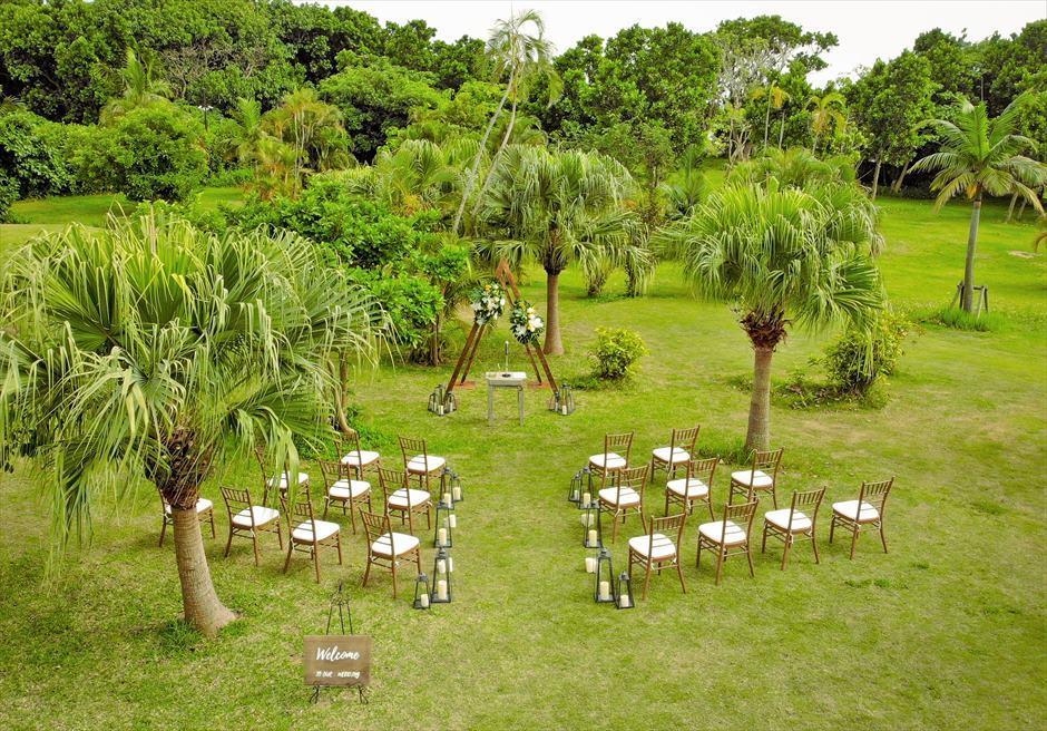 石垣リゾートホテル・沖縄結婚式 トロピカル・ガーデン・ウェディング 挙式会場全景