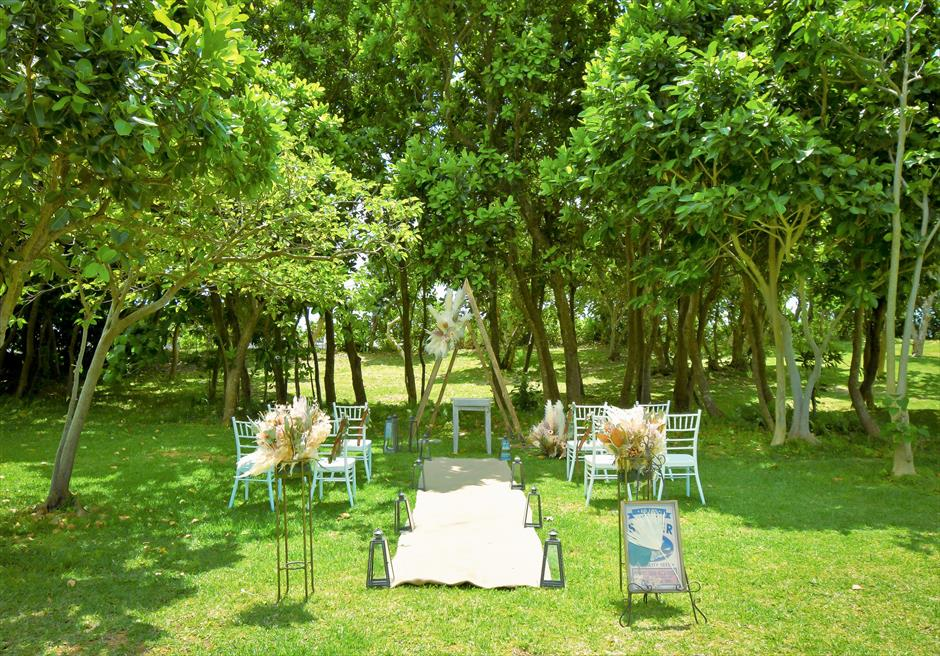石垣リゾートホテル結婚式 ピースフル・ガーデン・ウェディング 挙式会場全景
