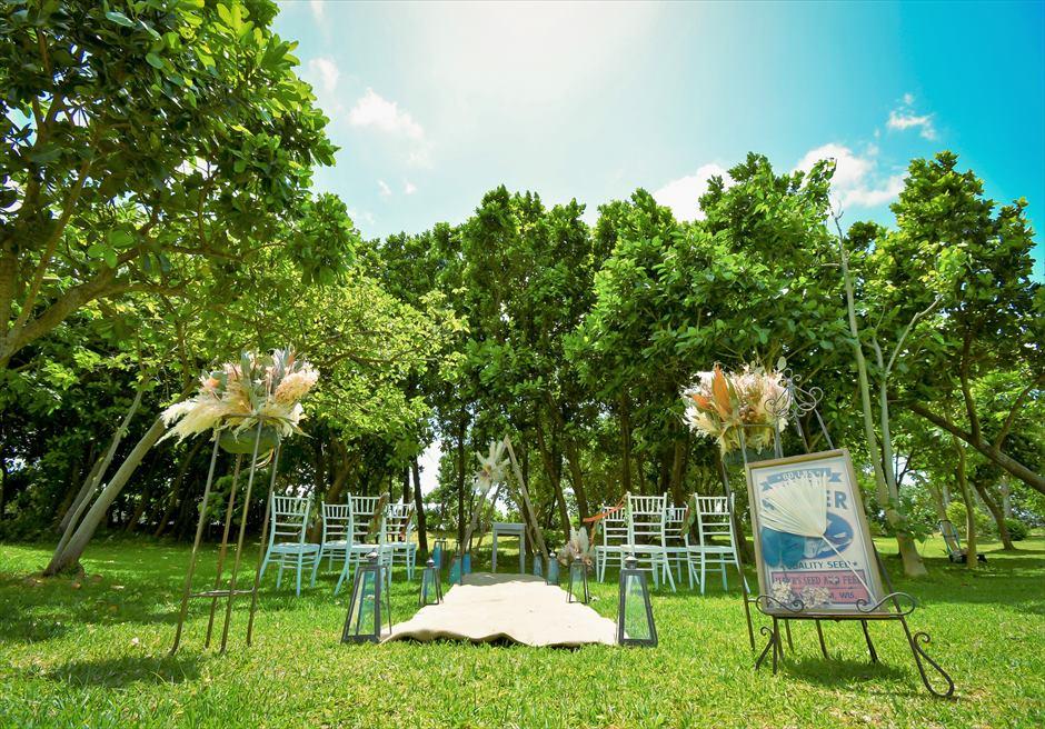 石垣リゾートホテル結婚式 ピースフル・ガーデン・ウェディング 広大なガーデンを舞台にした挙式会場
