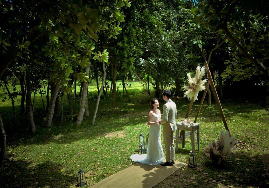 石垣リゾートホテル沖縄・ガーデン挙式 フォレスト・ガーデン・ウェディング 神秘的なガーデン挙式