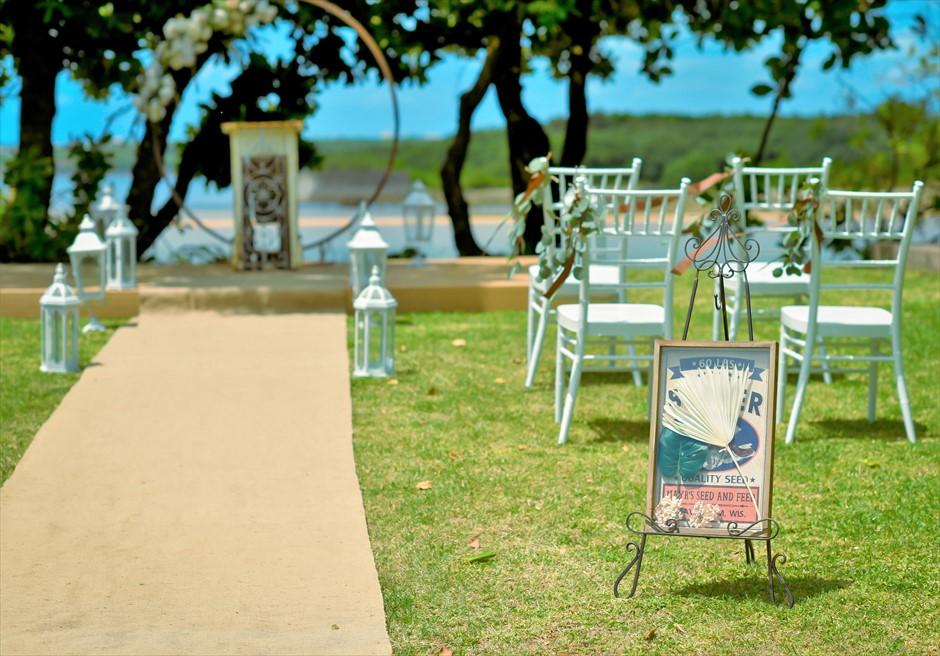 石垣リゾートホテル・沖縄結婚式 オーシャンフロント・デッキ・ウェディング ウェルカムボード