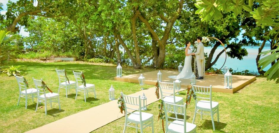 Oceanfront Deck Garden Wedding