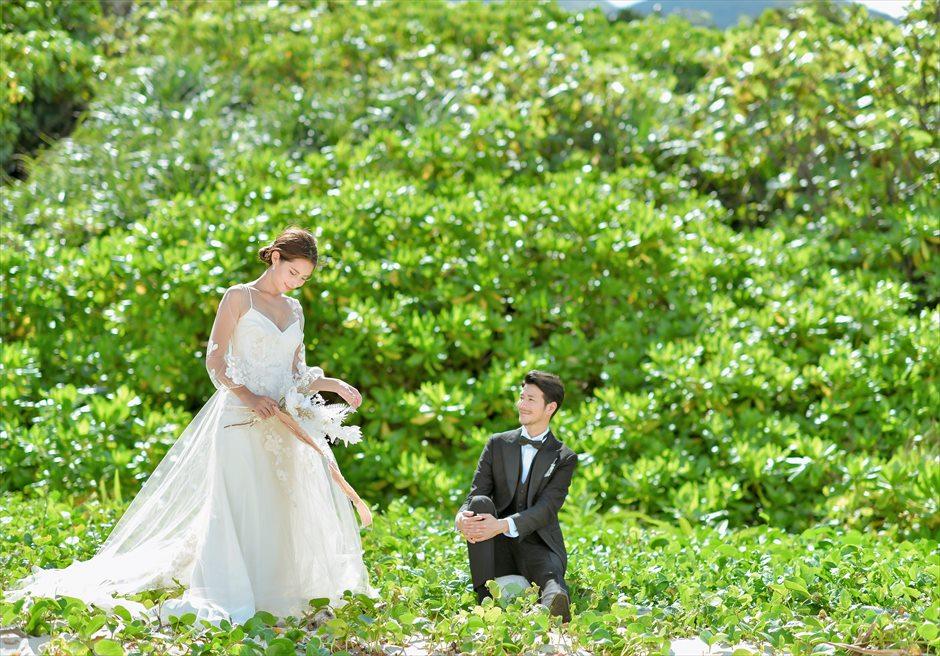 コーラル・テラス石垣島フォトウェディングビーチ・ガーデン挙式前撮影