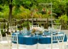 コーラル・テラス石垣島・沖縄結婚式 テラス・ウェディング・パーティー ラウンド・テーブル装飾ブルー