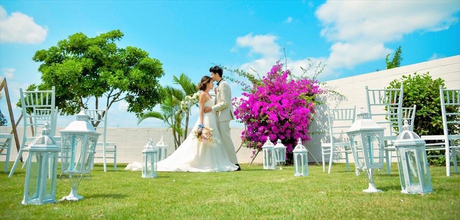Oceanfront Villa Flower Garden Wedding
