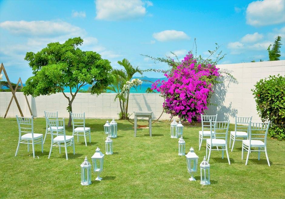 海邦フサキ石垣島・沖縄ヴィラ・ウェディング オーシャンフロント・フラワー・ガーデン挙式 挙式会場全景