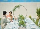 海邦フサキ・ウェディングパーティー&披露宴 パーティーシーン(サークルアーチは挙式装飾流用)