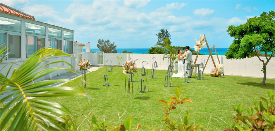 Oceanfront Villa Garden Wedding