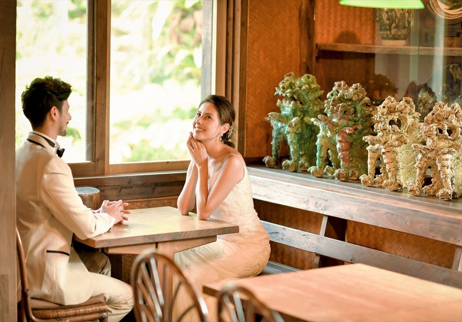 舟蔵の里・石垣島フォトウェディング沖縄琉球古民家レストランにて