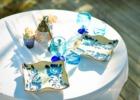 舟倉の里・茶房棟テラス 琉球食器&グラス一例