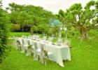 ハーブ・ガーデン・パナ ガーデン・ウェディング・パーティー&披露宴 挙式会場を望むパーティー会場