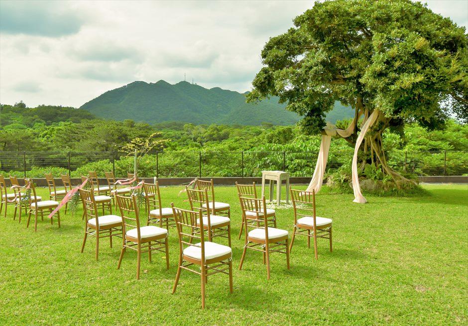 ホテル海邦川平・石垣島沖縄・結婚式│ツリー・ガーデン・ウェディング│緑深い山々を望むツリーガーデン