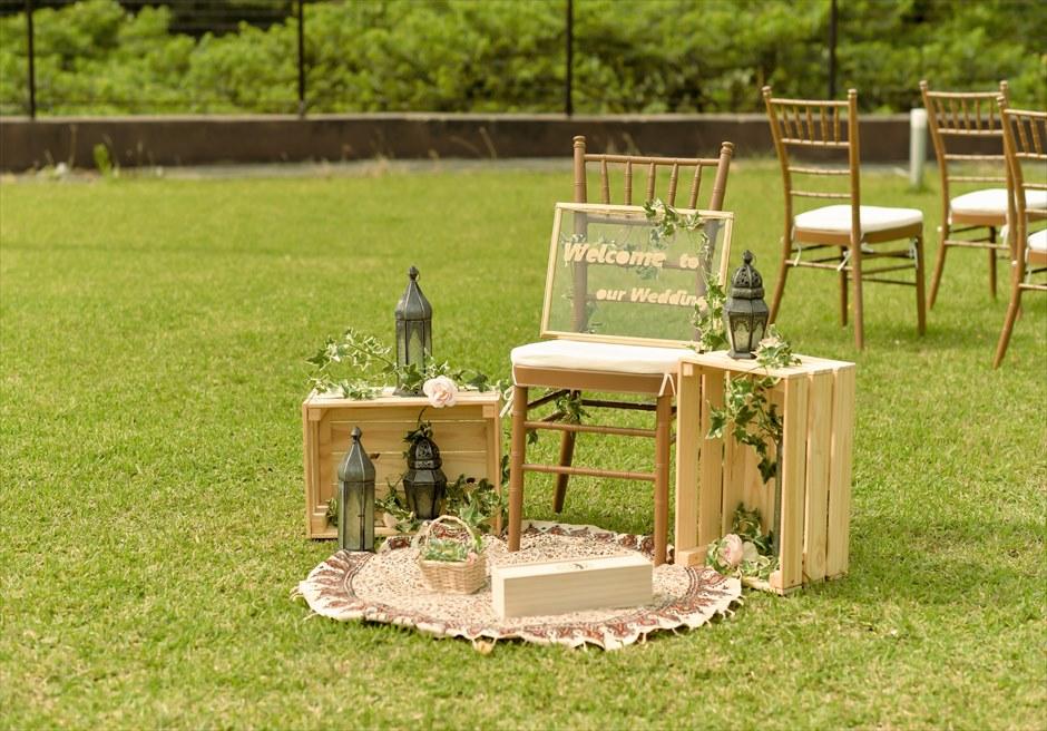 ホテル海邦川平・石垣島沖縄・結婚式│ツリー・ガーデン・ウェディング│ウェルカムボード