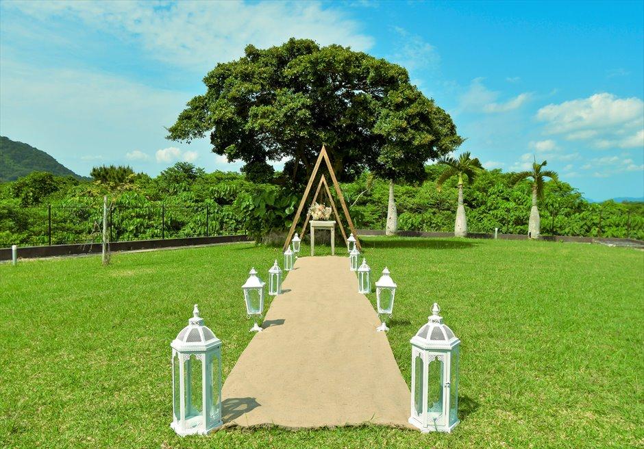 ホテル海邦川平・石垣島沖縄結婚式 ヘブンズ・ドア・ガーデン・ウェディング 挙式会場全景