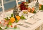 ホテル海邦川平 プールサイド・ウェディング・パーティー&披露宴 テーブル装飾一例
