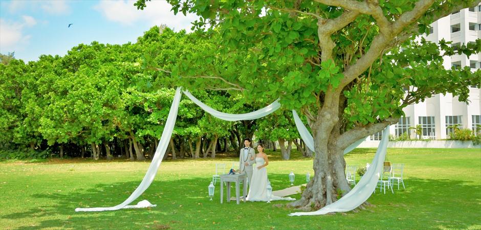 Oceanfront Park Tree Garden Wedding