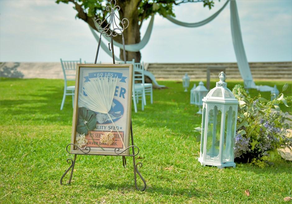 ホテル・ロイヤル・マリン・パレス石垣島結婚式│パーク・ツリー・ガーデン・ウェディング│ウェルカムボード