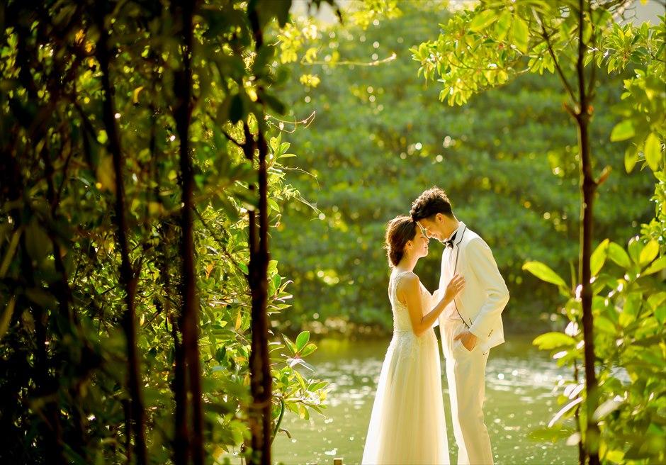 ジャングル・ホテル・パイヌマヤ西表島結婚式 マングローブ・フォトウェディグ 挙式前撮影 サンセットを望むジャングル
