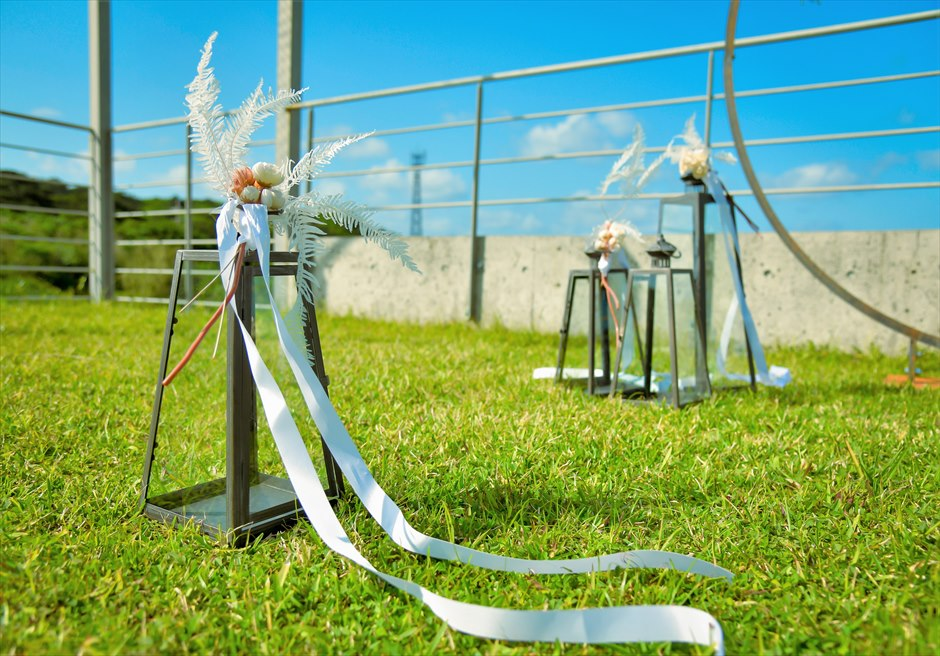 西表結婚式・ジャングル・ホテル・パイヌマヤ オーシャンビュー・ルーフトップ・ガーデン アイルサイド・クラシック・ランタン装飾