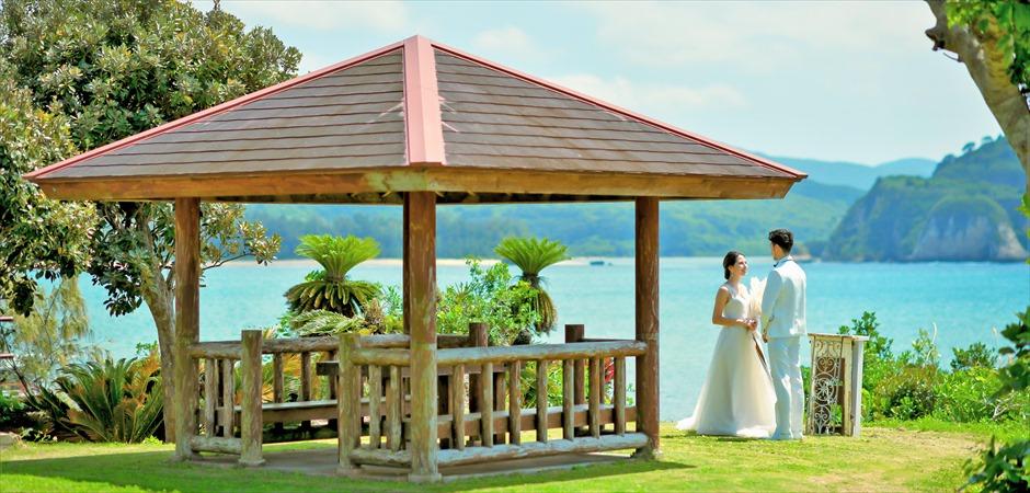 Gazebo Ocean Edge Wedding