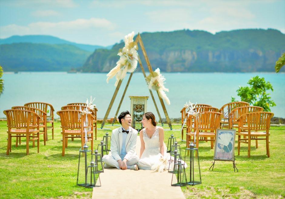 沖縄西表島結婚式ヴィラうなりざき オーシャンフロント・ガーデンウェディング 挙式後撮影