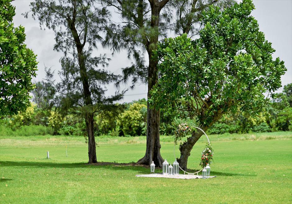石垣シーサイドホテル挙式・結婚式 ツリー・ガーデン・ウェディング 広大なツリー・ガーデンの敷地