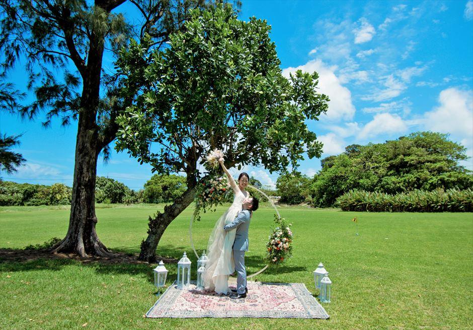 石垣シーサイドホテル挙式・結婚式 ツリー・ガーデン・ウェディング 挙式後撮影