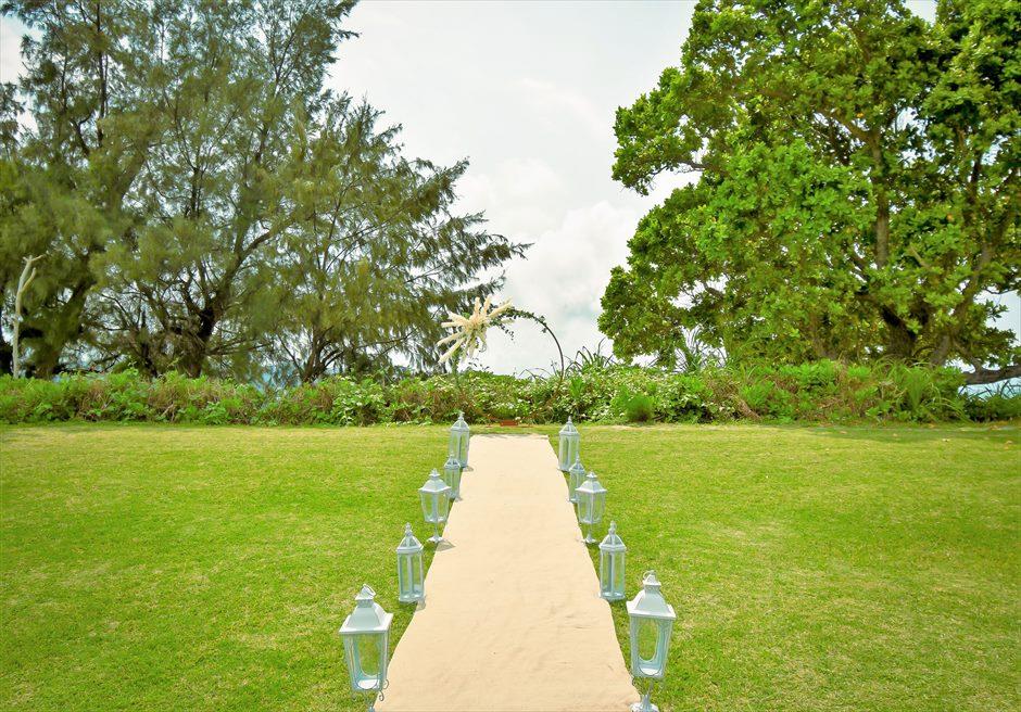 石垣シーサイドホテル・沖縄結婚式│ビーチフロント・ガーデン・ウェディング│挙式会場全景