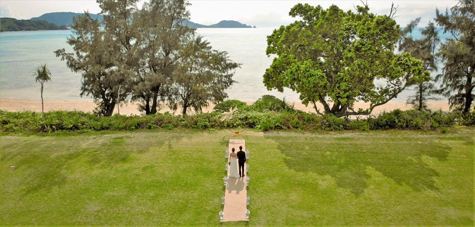 Beachfront Natural Garden Wedding