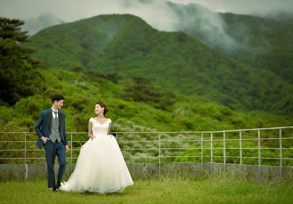 ジャングル・ホテル・パイヌマヤ西表島沖縄山々を望むルーフトップ・フォトウェディング