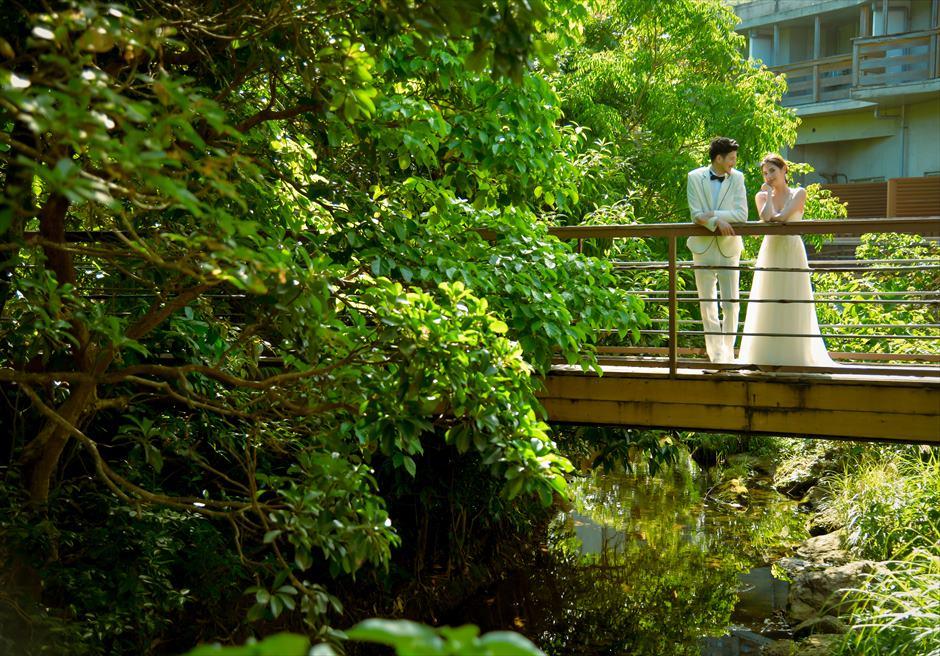 西表島ジャングル・ホテル・パイヌマヤ川を望むブリッジ・フォトウェディング