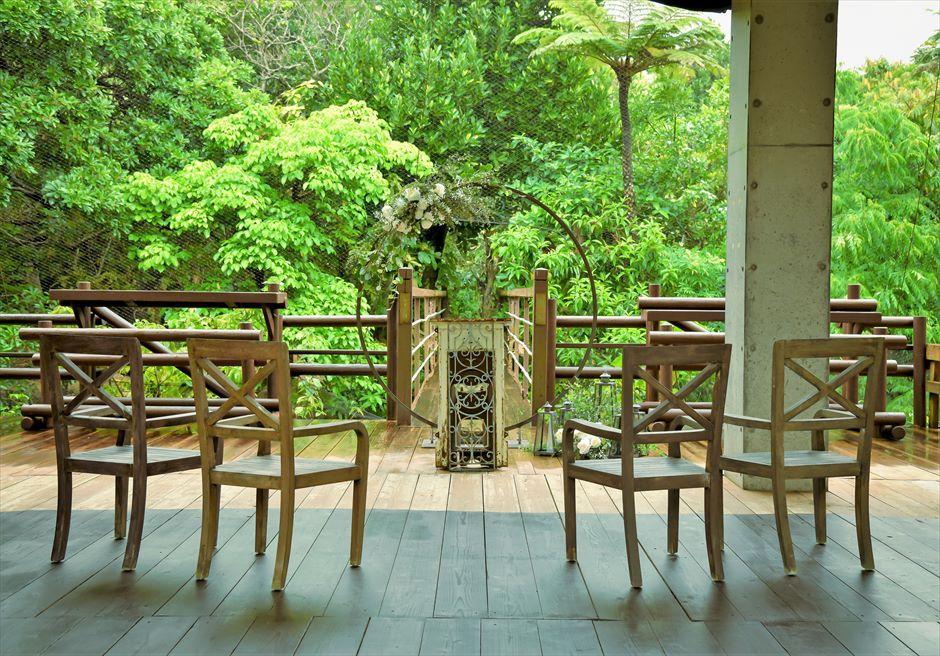 ジャングル・ホテル・パイヌマヤ西表結婚式 ブリッジ・デッキ・ウェディング 沖縄挙式 挙式会場全景
