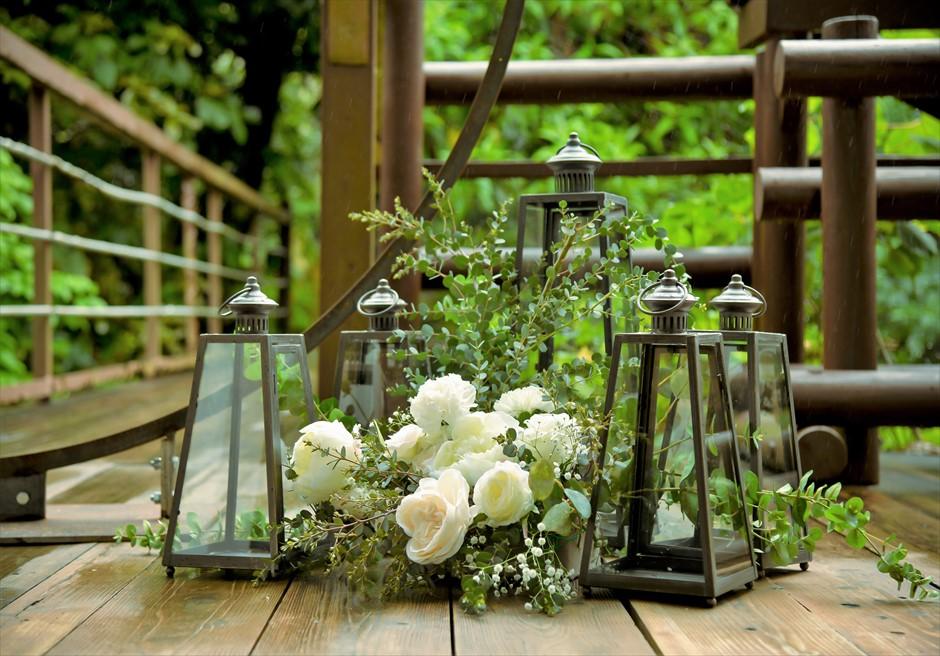 ジャングル・ホテル・パイヌマヤ西表結婚式 ブリッジ・デッキ・ウェディング クラシック・ブラック・ランタン装飾