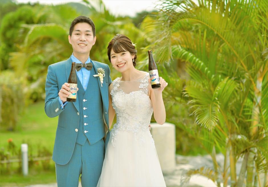 ホテル海邦川平フォト・オプションテラスにてビール乾杯