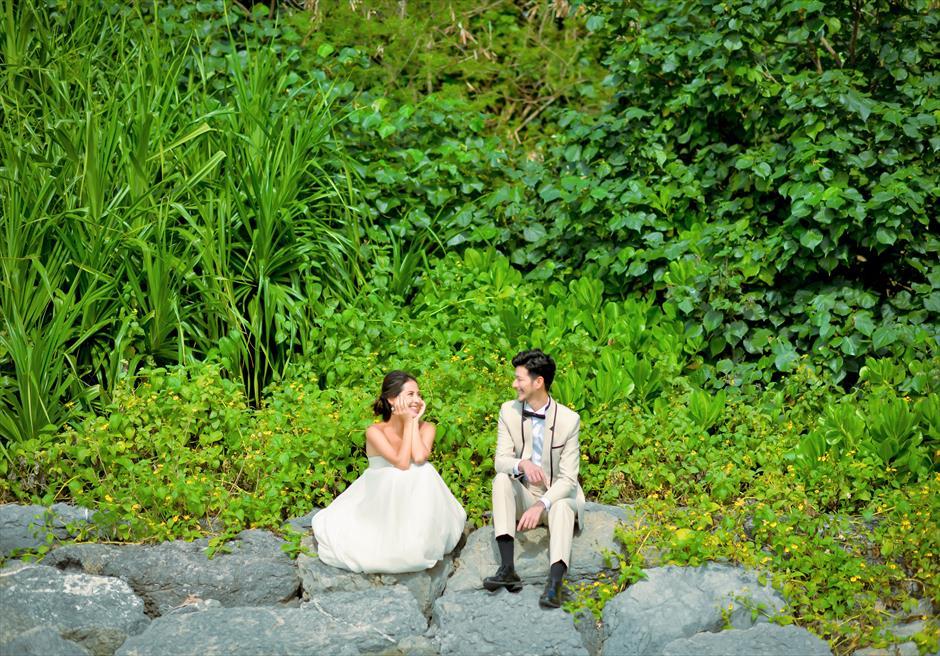 ホテル・ロイヤル・マリン・パレス石垣島緑豊かなジャングルにてフォトウェディング