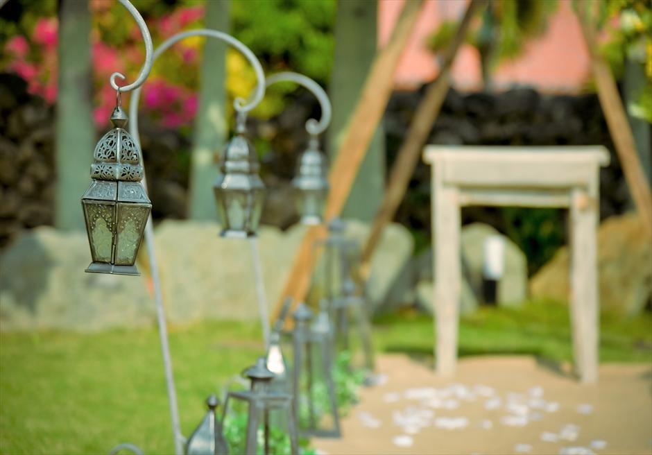 白保ノスタルジー・ガーデン石垣島沖縄結婚式 ヴィラ・ガーデン・ウェディング クラシック・モロカン・ランタン