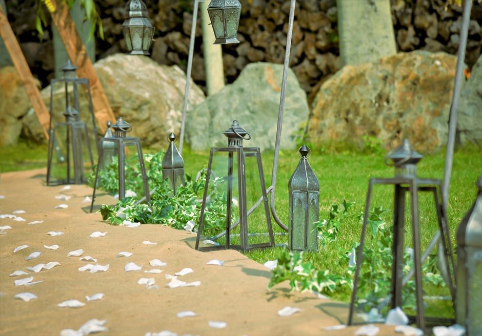 白保ノスタルジー・ガーデン石垣島沖縄結婚式 ヴィラ・ガーデン・ウェディング クラシック・ブラック・ランタン