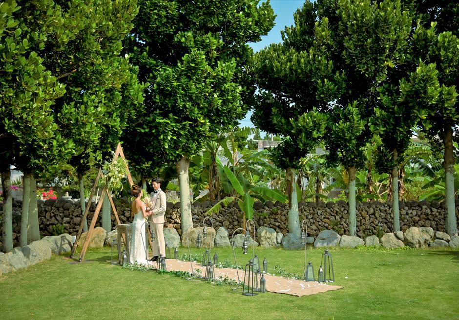 白保ノスタルジー・ガーデン石垣島ヴィラ挙式 ノスタルジー・ガーデン・ウェディング 沖縄琉球ガーデン挙式