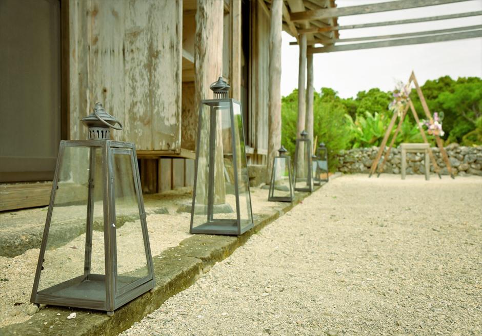 竹富島・沖縄琉球古民家結婚式 ヴィラ・ウェディング アイルサイド・クラシック・ランタン装飾