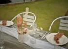 ヴィラうなりざき西表島ガーデン ウェディング・パーティー&披露宴会場テーブル装飾一例