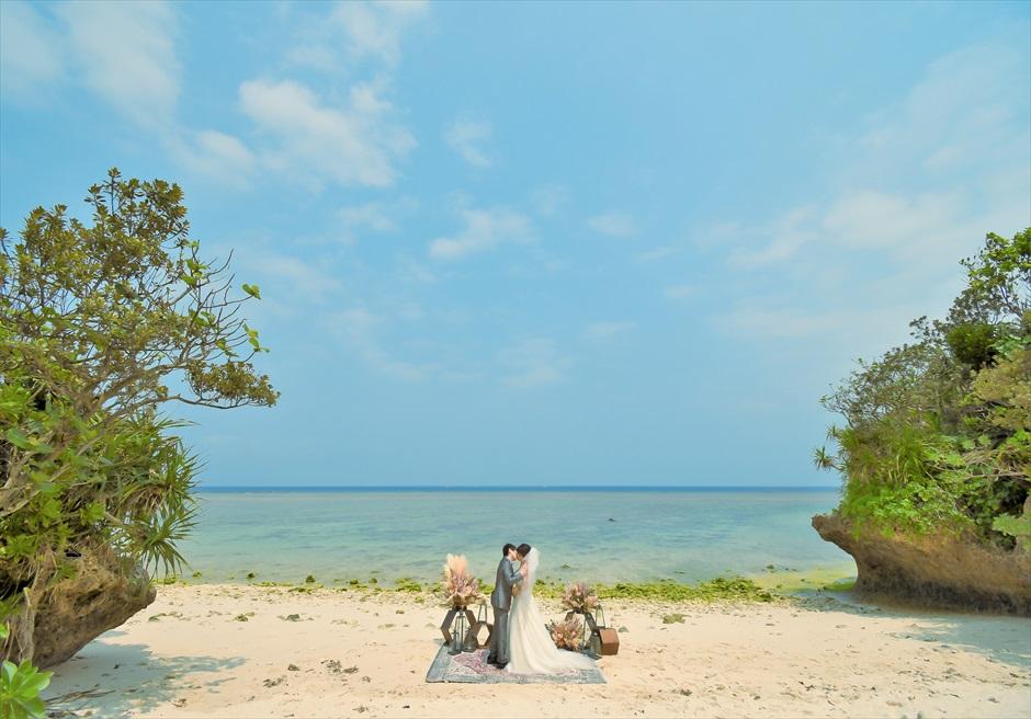 セレモニーフォト・ビーチ(カーペット)│沖縄石垣コーラル・テラス挙式・結婚式