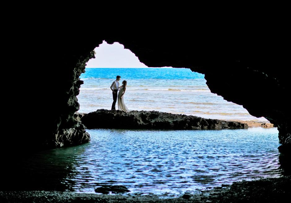 青の洞窟小島フォトウェディング│沖縄石垣コーラル・テラス挙式・結婚式